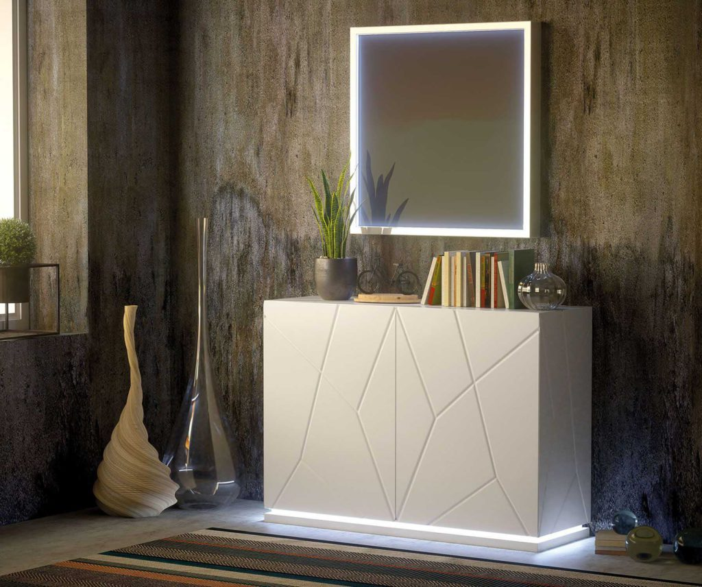 Zapatero ZII10 con espejo y luz led